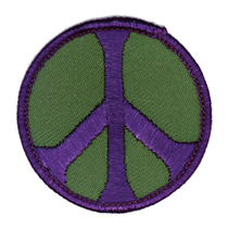 Peace Patch, Green and Purple | Hippie