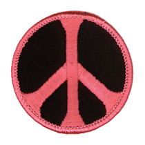 Peace Patch, Pink and Black | Hippie