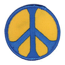 Peace Patch, Yellow and Blue | Hippie