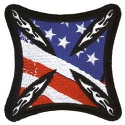 Iron Cross US Flag Patch