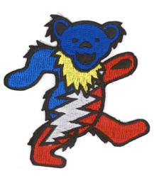 Grateful Dead Lightening Bear Patch
