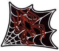 Vulture Kulture Spiderweb Car Culture Iron On Patch Large