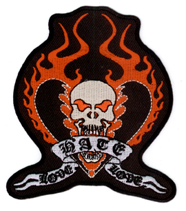 Vulture Kulture Love Hate Love Car Culture Iron On Patch