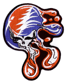 Grateful Dead Melting Steal Your Face Iron On Patch Small