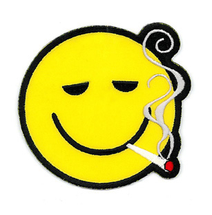 Smoking Smiley Patch | Hippie