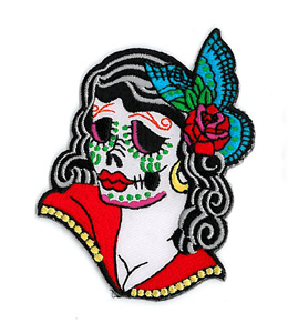 Sunny Buick Lady Sugar Skull Patch