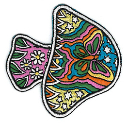 Dan Morris Butterfly Mushroom Patch | Patches