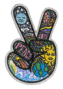 Dan Morris Peace Fingers Patch | Hippie