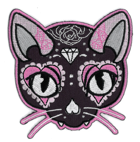 Miss Cherry Martini Pink Cat Patch | Patches