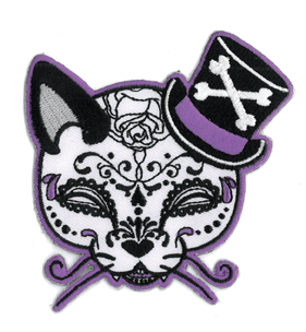 Miss Cherry Martini Tophat Cat Patch | Skool Daze