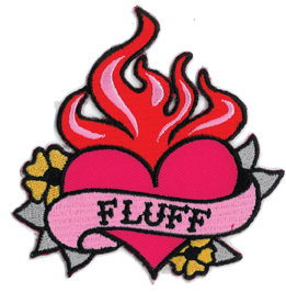 Fluff Flaming Heart Patch | CLEARANCE!!
