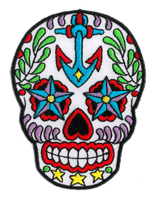 Sunny Buick Ancre Sugar Skull patch