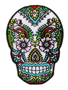 Sunny Buick Lace Sugar Skull patch | Tattoo