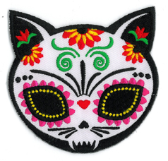 Evilkid Gato Muerto Embroidered Patch | Sugar Skulls