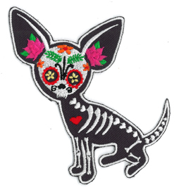 Evilkid Chihuahua Muerta Embroidered Patch | Sugar Skulls