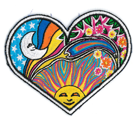 Dan Morris night/day heart patch | Hippie