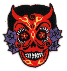 Evilkid La Diablita Embroidered Patch | Sugar Skulls