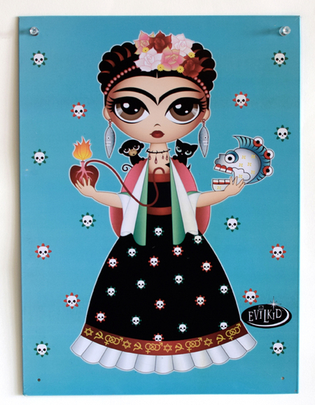 Evilkid Frida Metal Sign | Metal Signs