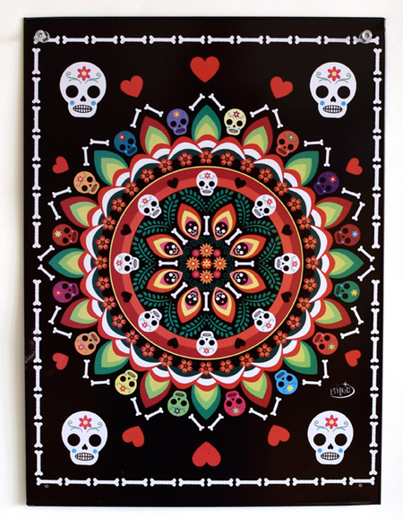 Evilkid Muertos Mandala Metal Sign | Undead, Skeletons and Creatures of the Night