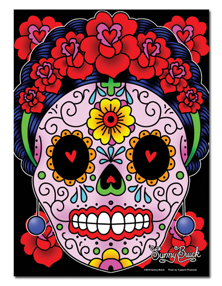 Sunny Buick Frida Calavera Metal Sign | Metal Signs