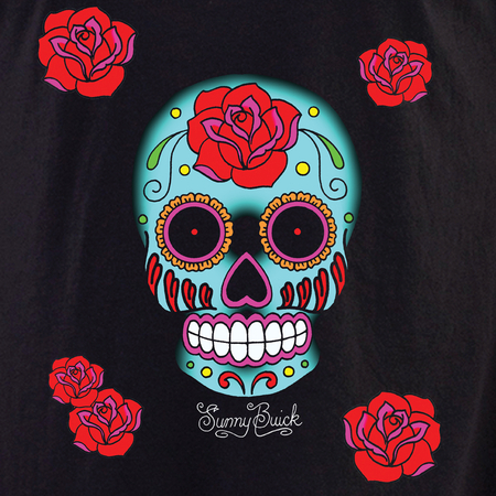 Sunny Buick Rose Sugar Skull Shirt | Latino