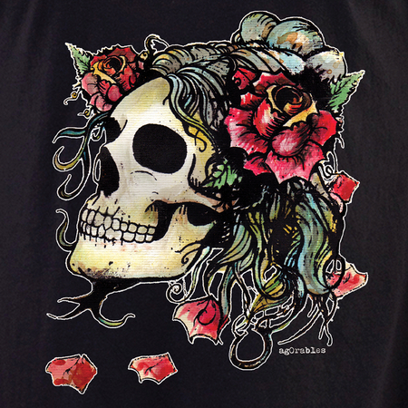 Agorables Rose Skull Shirt | T-Shirts and Hoodies