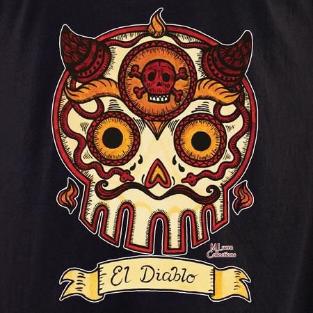 Mluera El Diablo Day of the Dead Skull Shirt | Latino