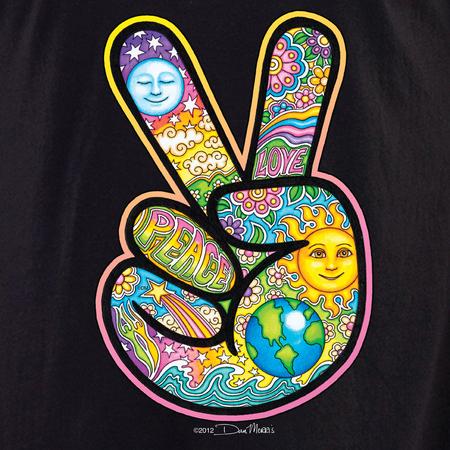 Dan Morris Peace Hand Celestial Shirt | Hippie