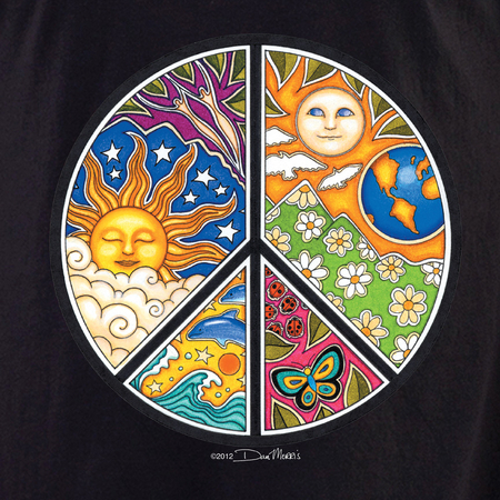 Dan Morris Peace Sign Shirt | Hippie