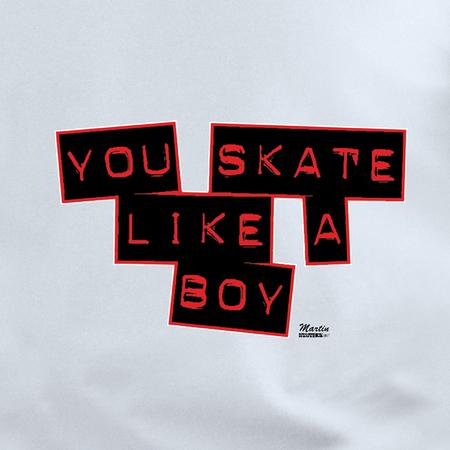 Enginehouse 13 You Skate Like a Boy Shirt | Roller Derby