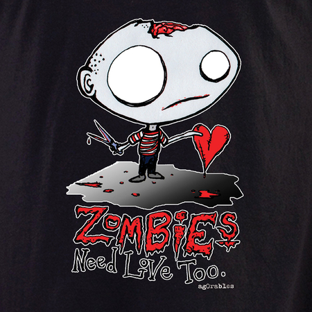 Agorables Zombies Need Love Too Shirt | LOL!!!