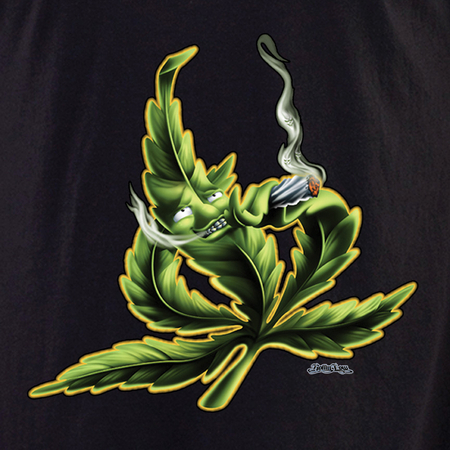 Rollin' Low Smoking Leaf Pot Shirt | T-Shirts