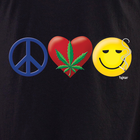 Peace, Love and Happiness Shirt | Cannabis