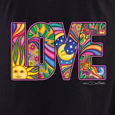 Dan Morris LOVE Shirt | Hippie