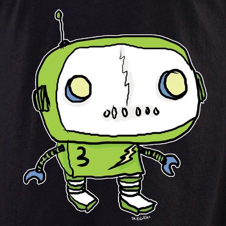 Dr Krinkles Green Robot Shirt   LOL!!!