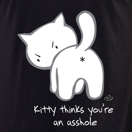 Evilkid Kitty Asshole Shirt | T-Shirts and Hoodies