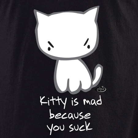 Evilkid Kitty You Suck Shirt | Evilkid