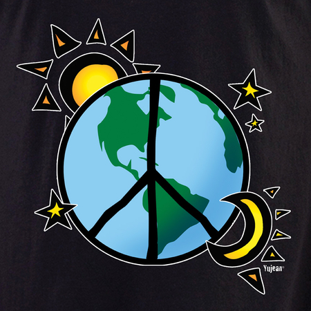 Earth Stars Peace Shirt | Celestial