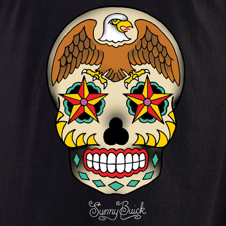 Sunny Buick Eagle Sugar Skull Shirt | Latino