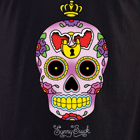 Sunny Buick Heart Lock Sugar Skull Shirt | Latino