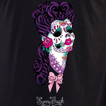 Sunny Buick Lace Sugar Skull Shirt | T-Shirts
