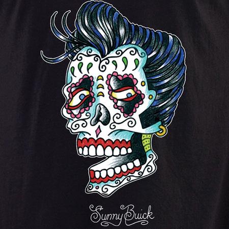 Sunny Buick Rocker Sugar Skull Shirt | T-Shirts