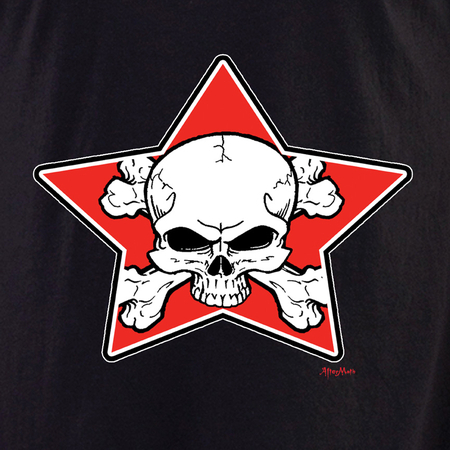 Aftermath Star skull and crossbones t-shirt