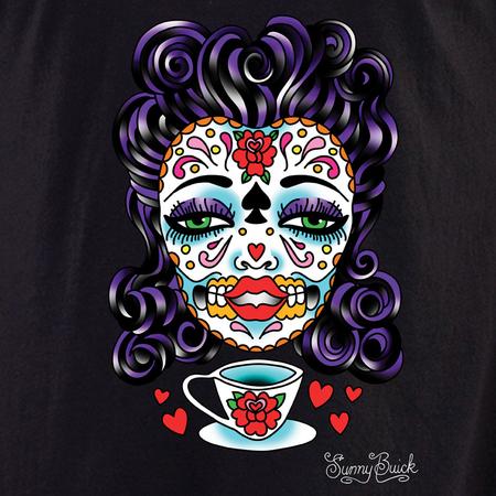 Sunny Buick Tea Lady Sugar Skull Shirt | Latino