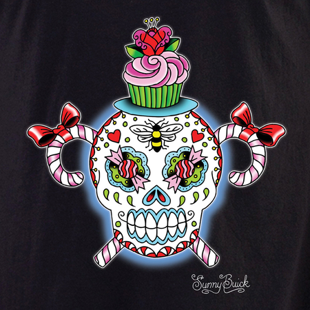 Sunny Buick Stinky and Sweet Sugar Skull Shirt | Latino