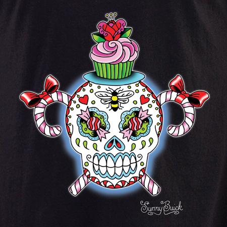 Sunny Buick Stinky and Sweet Sugar Skull Shirt | Latino