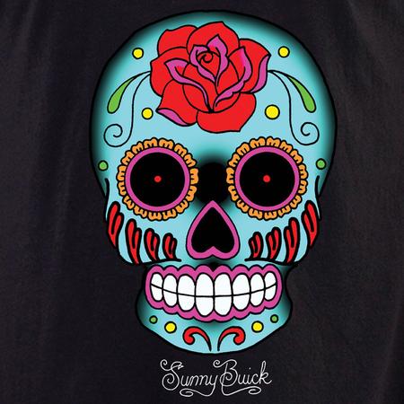 Sunny Buick Rose Sugar Skull #2 Shirt | Latino
