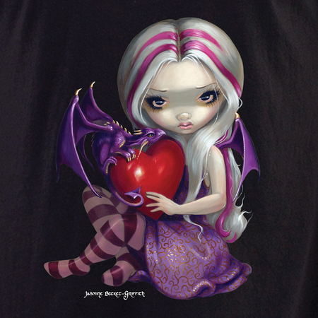 Jasmine's Valentine Dragon Fairy Shirt | T-Shirts