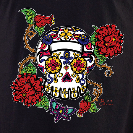 MLuera Rose and Thorns Sugar Skull Shirt | Latino