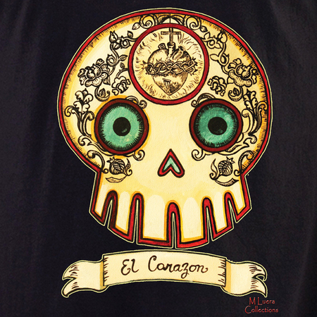 MLuera El Corazon Sugar Skull T-Shirt